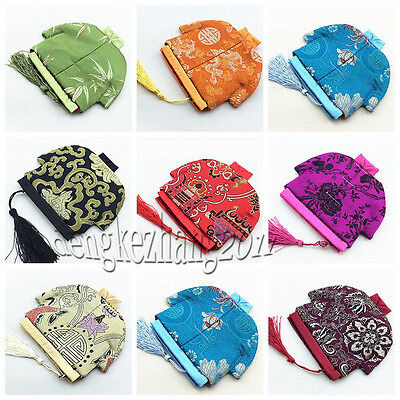 Wholesale 10pcs Chinese Handmade Vintage Cloth Coin Purse Jewerly Pouch Gift Bag