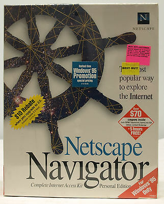Netscape Navigator Personal Edition Version 1.2 Windows 95 CD-ROM - NEW - SEALED