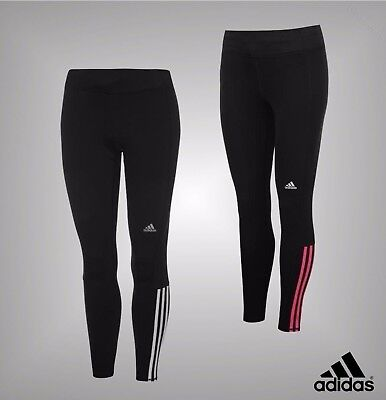 272590dd81a34 NEW LADIES ADIDAS Quest ClimaLite 3 Stripe Long Running Tights Bottoms Size  6-22 - EUR 35,88   PicClick FR