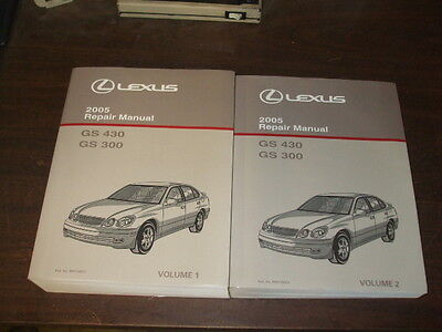 2005 lexus gs430 gs300 gs 300 430 repair manual 2 volume set shop rh picclick com lexus gs 430 repair manual 2006 lexus gs430 service manual