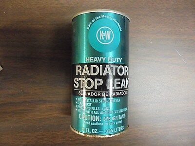 VINTAGE K&W Heavy Duty Radiator Stop Leak 11 fl oz