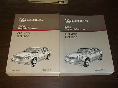 2004 Lexus GS430 GS300 GS 300 430 Repair Manual 2 VOLUME SET Shop Service OEM