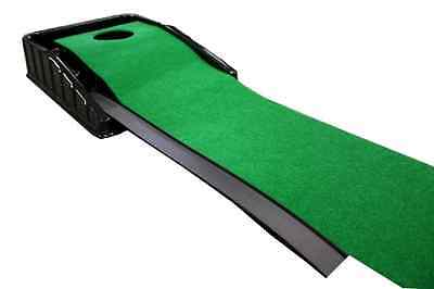 Golf Putting Training Practice System Automatic 7 ft Green Grass Mat Turf Game