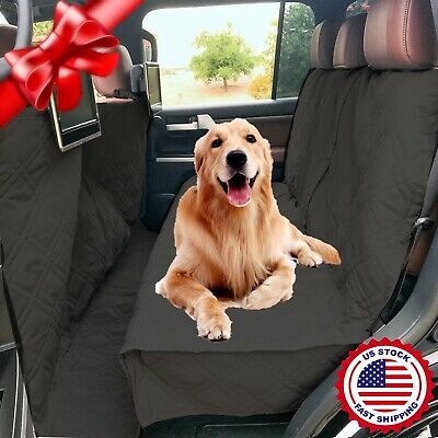 Suv Truck Van Car Vehicle Back Seat Cover For Dog Pet Quilted Padded Black New