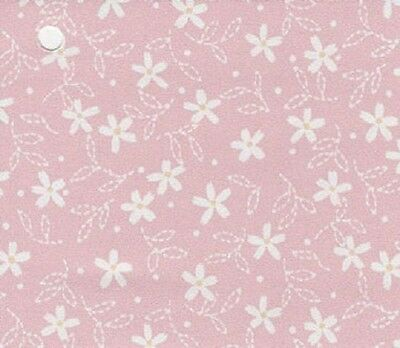 Dollhouse Interior New Creations Wallpaper Sheets NC11805 White Flowers on Pink