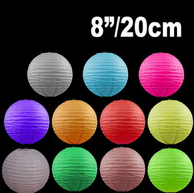 """BULK 12x 8""""/20cm Paper Lanterns Colourful Wedding Party home Chinese Decoration"""