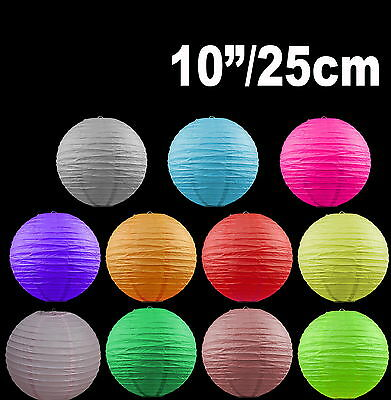 """BULK 12x 10""""/25cm Paper Lanterns Colourful Wedding Party home Chinese Decoration"""