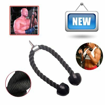 Heavy Duty Tricep Rope Attachment Bodybuilding Plastic End Lat Cord Gym Exercise