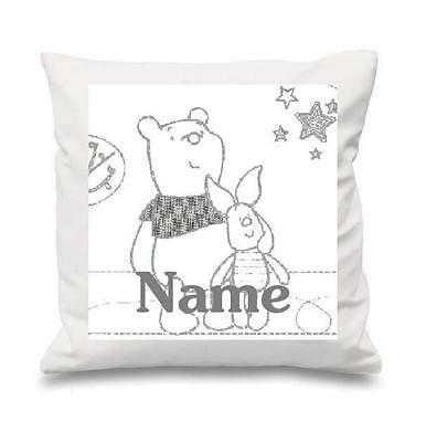 Winnie The Pooh Starry Night Cushion Cover Can Be Personalised  New Free P&p