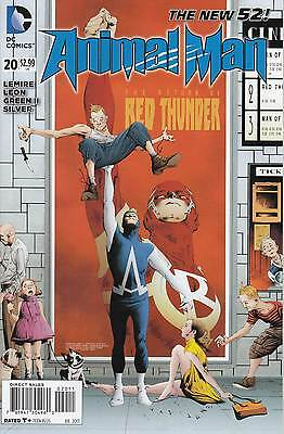 ANIMAL MAN 19...1st Print...NM-...2013...New 52...Jeff Lemire...Bargain!