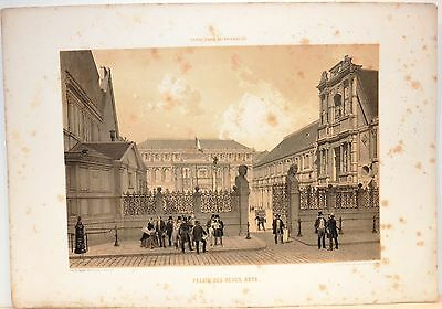 Stampa antica PARIGI PARIS Palais des Beaux-Arts 1861 Old antique print
