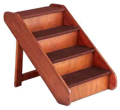 "X-Large Wood Dog Ladder Pet Stairs Ramp Bed Steps Step 25"" Tall Folding Portable"