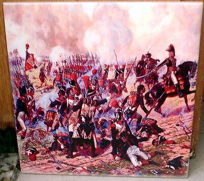 French Infantry Advancing painting~Napoleonic Wars~ CERAMIC TILE