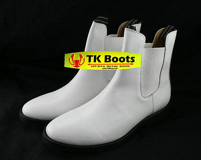 Stormtrooper White Armor Inspired Custom Leather Boots Size 9 C-width