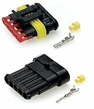 Auto Marine 5 Way Superseal Waterproof Electrical Terminal Connector Kit