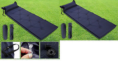 Single Self Inflating Camping Roll Mat/ Pad Inflatable Bed Bag Sleeping Mattress