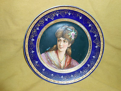 Royal Vienna Antique Hand Painted Plate. Used