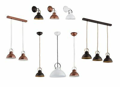 Pendant Ceiling Loft Light Vintage White Copper Wenge Industrial Retro Fitting