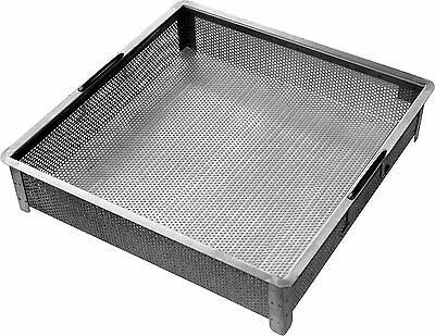 "ACE Stainless Steel Drain Basket w/ Handle for 24""x24"" Compartment Sink, SD-2424"