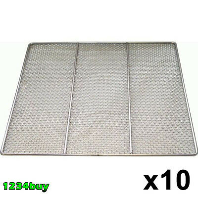 "10 PC Stainless Steel Donuts Frying Screens 23""x23"", 24 Gauge DN-FS23 (16 Mesh)"