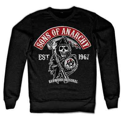 Sons Of Anarchy Redwood Original Red Patch Grim Reaper Biker Männer Sweatshirt