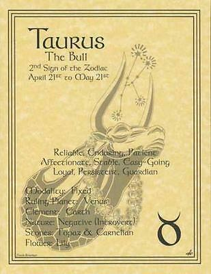 Taurus (Zodiac) Parchment Page for Book of Shadows, Altar!