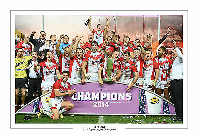 2014 Grand Final Super League Champions St Helens A4 Print Photo