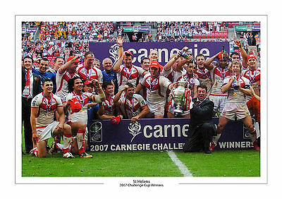 2007 Challenge Cup Winners St Helens A4 Photo Rugby League