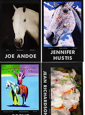 Lot of 4 HORSE Art Cards