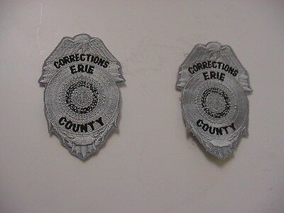2 vintage ERIE COUNTY depatment of corrections patch