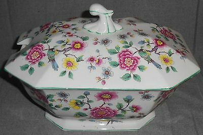 James Kent OLD FOLEY - CHINESE ROSE PATTERN Tureen w/Lid MADE IN ENGLAND