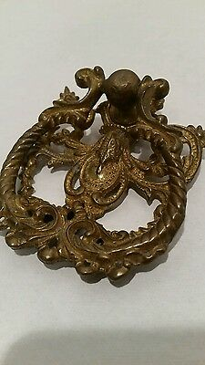 Vintage Mid Century brass door knocker ornamental by design