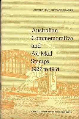 Stamps Australia Post Office commemorative & airmail stamps 1927-1951 booklet