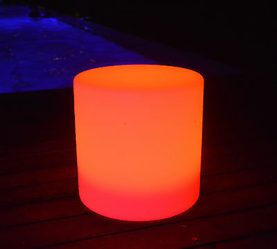 Glow Stool 40cm, LED Stool Seat, Colour Changing, Remote
