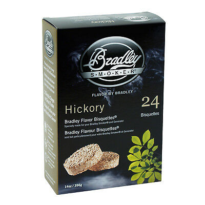 New Bradley Hickory Bisquettes 24 Pack
