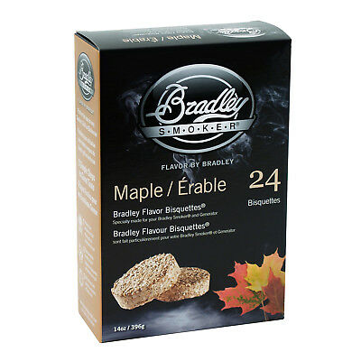 New Bradley Maple Bisquettes 24 Pack