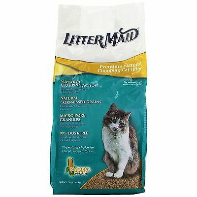 LitterMaid Premium Natural Clumping Cat Litter 7-Pound (LML100) New Free Shi NEW