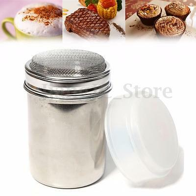 Stainless Chocolate Cocoa Flour Shaker Icing Sugar Powder Coffee Sifter Lid