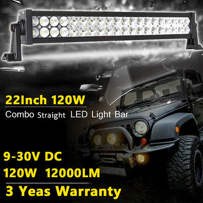 24Inch 120W Led Light Bar Flood Spot Combo Work 4Wd Ute Offroad Truck Jeep Lamps