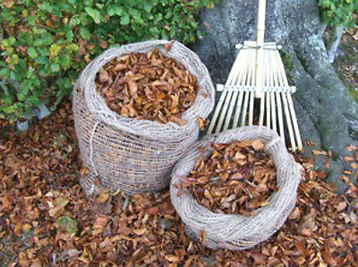 Jute Leaf Composting Compost Sacks  ( Packs of 2 4 6 )