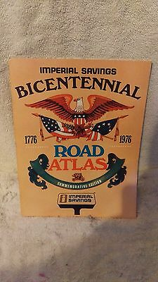 1976 Imperial Savings Bicentennial  Road Atlas