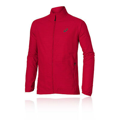 ASICS Lite Show Mens Red Thermal Water Resistant Running Sports Jacket Top