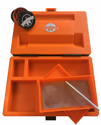 Cheeky One Smokers Club Mini Rolling Station Smoking Storage - INCLUDES GRINDER