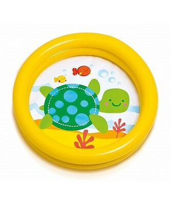 My First Babies Toddlers Inflatable Splash Paddling Pool Two Ring Turtle 59409