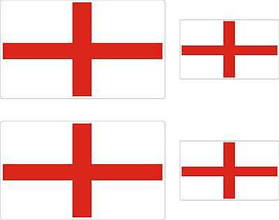 4x stickers 90mm x 50mm decals ENGLISH FLAG GEORGE CROSS