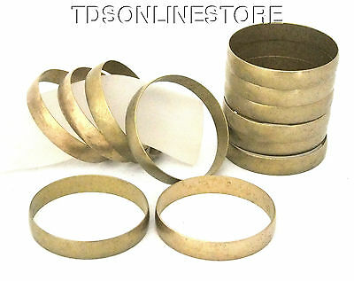 Raw Brass Solid Domed Bracelet Bangle Blanks 1/2 inch Wide Pkg Of 12