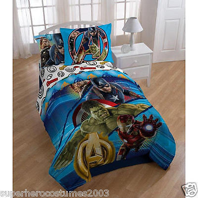 The Avengers Marvel Comics Bed Set Twin Full Comforter and Sham New 26064