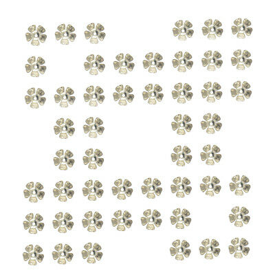 50Pcs Silver Plated Metal Flower Spacer Bead Caps DIY Jewelry Findings 8 mm