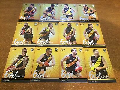 2016 Select Footy Stars - Richmond Tigers Excel Parallel Team Set - 12 Cards