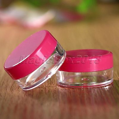 10pc Portable Empty Rose Red Travel Container Eyeshadow Face Cream Makeup Bottle